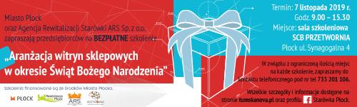 Aranżacja witryn sklepowych w okresie Świąt Bożego Narodzenia